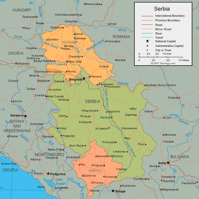 Province E Distretti Della Serbia Turismo E Impresa In Serbiait