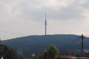 MONTE AVALA: il Monte Avala e la Torre dell'Avala visti dalla strada statale 200