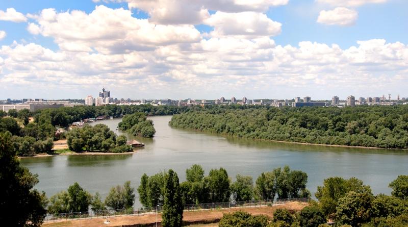 La confluenza della Sava nel Danubio a Belgrado