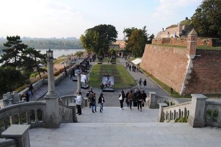 Il Parco Kalemegdan, la Fortezza di Belgrado e la statua de Il Vincitore (in serbo Pobednik)